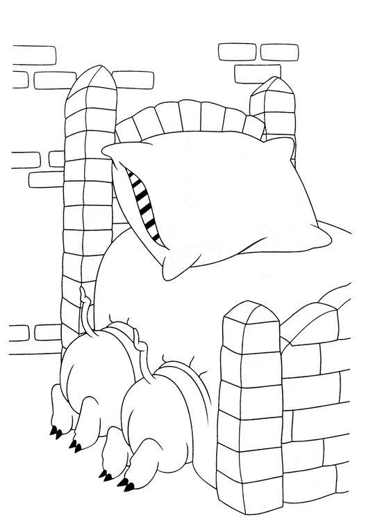 Coloriage les trois petits cochons 16 - Dessin des 3 petit cochon ...