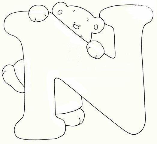 Coloriage ours alphabet