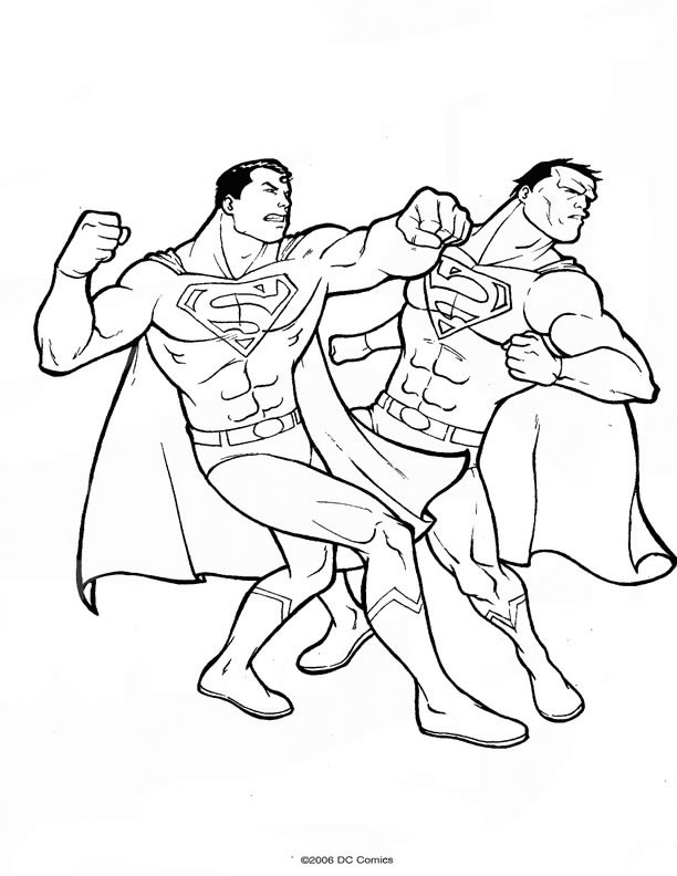 coloriage superman 17. Black Bedroom Furniture Sets. Home Design Ideas